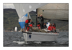 Sailing - The 2007 Bell Lawrie Scottish Series hosted by the Clyde Cruising Club, Tarbert, Loch Fyne..Day 2 racing with light to medium winds from the North west...Class 1 Uxorious GBR4209L.