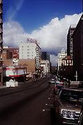 CS02006.  SW Broadway looking N from Jefferson. March 4, 1973