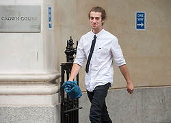 """© Licensed to London News Pictures; FILE PICTURE 22/06/2021; Bristol, UK. DYLAN DUNNE leaves Bristol Crown Court. Dylan Dunne is charged with violent disorder, theft of police equipment and possession of a class B drug and is one of the defendants facing charges related to a """"Kill the Bill"""" protest and riot against the Police, Crime, Sentencing and Courts Bill. During the protest on 21 March 2021 two police vehicles were burnt out and windows on Bridewell Police Station were smashed. The Police, Crime, Sentencing and Courts Bill proposes new restrictions on protests. Photo credit: LNP."""