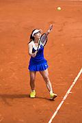 Paris, France. Roland Garros. June 1st 2013.<br /> Chinese player Jie ZHENG against Maria SHARAPOVA