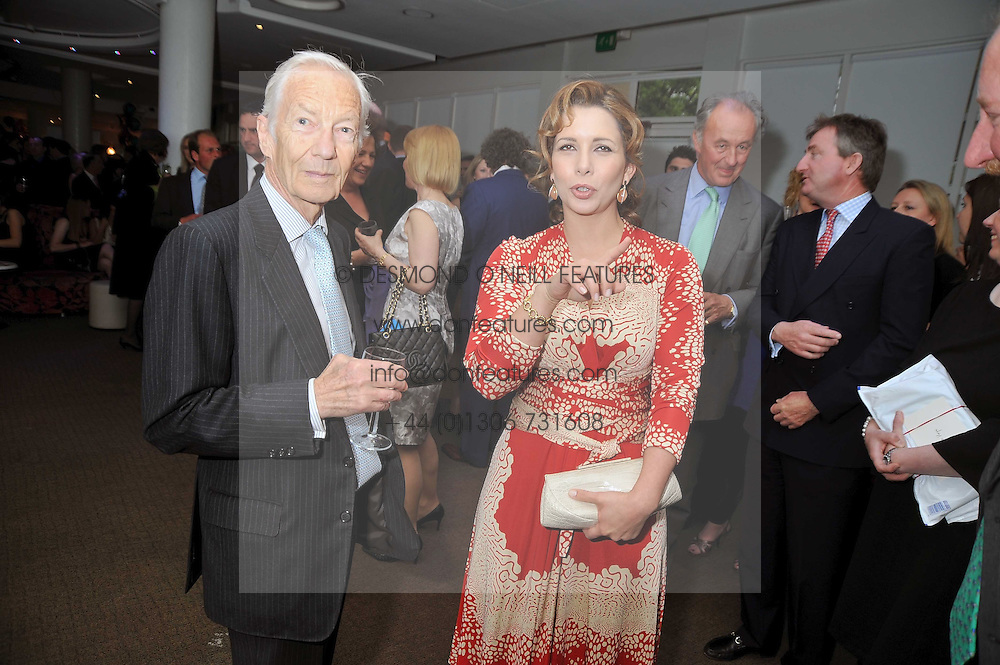 HRH PRINCESS HAYA OF JORDAN and LESTER PIGGOTT at the launch of the 2009 Derby Festival in the presence of HRH Princess Haya of Jordan in aid of the charity Starlight held at the Kensington Roof Gardens, 99 Kensington High Street, London W8 on 12th May 2009.