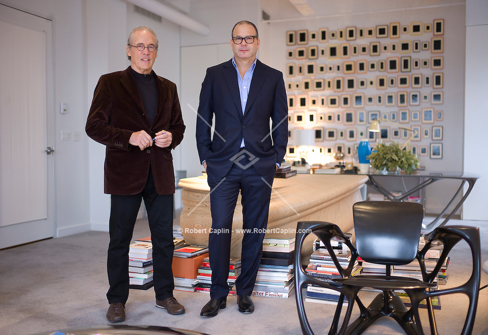 Reed Krakoff, right, of Coach, with the architect William Pedersen, whose firm is designing the Coach tower in New York...Photo by Robert Caplin...