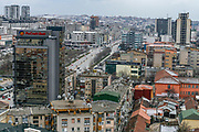 A general overview of Mother Teresa boulevard in Prishtina, Kosovo's capital, Feb 15, 2009. (Photo/ Vudi Xhymshiti)