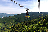 """Tairyuji Cable Car Ropeway - Tairyuji Temple is the 21sttemple on the 88 temple pilgrimage in Shikoku and is famous as anansho - in other words a """"difficult to reach temple.""""  Set at 610 meters above sea level and involves a steep descent followed by a steep ascent. Most visitors take the ropeway which opened in 1992. Tairyuji is special and unusual among the pilgrimage temples in that whereas all the temples on the pilgrimageclaim to have some connection with Kobo Daishi almost all of them have no historical documentation confirming it. Tairyuji does - Kobo Daishi himself wrote about the time he spent on this mountain at the age of 15. He spent 50 days here reciting a mantra one million times in an attempt to reach enlightenment. Though he didn't succeed, he continued his ascetic practices further south in a cave on Cape Muroto."""