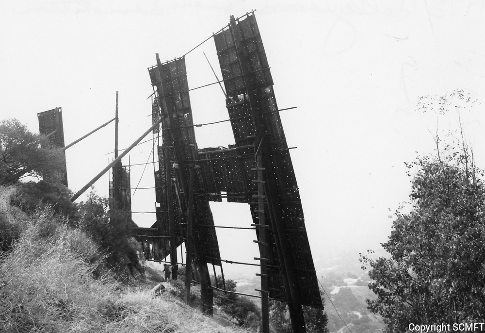 1978 Demolition of the Hollywood sign