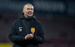 En glad cheftræner Flemming Pedersen (FC Nordsjælland) efter kampen i 3F Superligaen mellem FC Nordsjælland og AC Horsens den 19. februar 2020 i Right to Dream Park, Farum (Foto: Claus Birch).