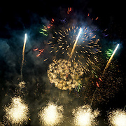 Hundreds attended Guy Fawkes Night free fireworks organise by Newham council at Wanstead Flats on 5th November 2017, London, UK