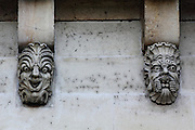 Grotesques on Pont Neuf in Paris