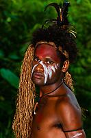 Wetr tribal dancers, Hnathalo, Lifou (island), Loyalty Islands, New Caledonia