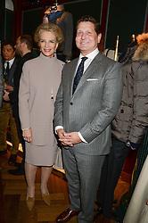 PRINCESS MICHAEL OF KENT and CRAIG REYNOLDS CEO of Kent & Curwen at the Kent and Curwen London Flagship Launch, Saville Row, London on 6th November 2013.