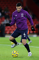 West Ham United's Fabian Balbuena warms up <br /> <br /> Photographer Rich Linley/CameraSport<br /> <br /> The Premier League - Sheffield United v West Ham United - Friday 10th January 2020 - Bramall Lane - Sheffield <br /> <br /> World Copyright © 2020 CameraSport. All rights reserved. 43 Linden Ave. Countesthorpe. Leicester. England. LE8 5PG - Tel: +44 (0) 116 277 4147 - admin@camerasport.com - www.camerasport.com