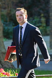 Downing Street, London, March 31st 2016. Welsh Secretary Alun Cairns arrives in Downing Street for an emergency meeting of senior government officials to discuss strategies aimed at saving the British steel industry following Tata Steel's decision to close the loss-making Port Talbot steel plant at Downing Street, London. ©Paul Davey<br /> FOR LICENCING CONTACT: Paul Davey +44 (0) 7966 016 296 paul@pauldaveycreative.co.uk