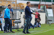 Forest Green Rovers manager, Mark Cooper during the Vanarama National League match between Dover Athletic and Forest Green Rovers at Crabble Athletic Ground, Dover, United Kingdom on 10 September 2016. Photo by Shane Healey.