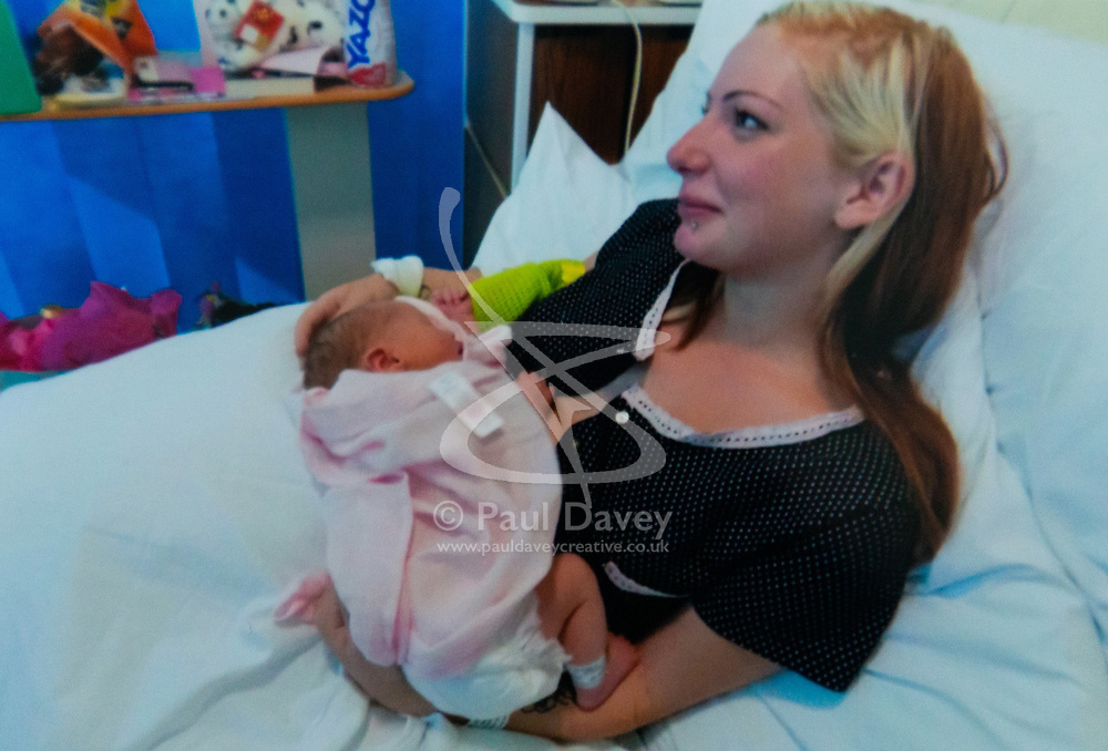 Jemma with baby daughter Nirvana in August 2016. Jemma Llewellyn, 22, who has waived her right to anonymity, has been successful in the prosecution of her uncle Richard Wallace 36 after he sexually assaulted her while she was seven months pregnant, asleep on her mother's sofa. Southend-On-Sea, March 29 2019.