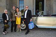 ZARA DELANEY; ALEXANDER CRESWELL; MARY CRESSWELL; DAVID DELANEY, Opening of Grange Park Opera, Fiddler on the Roof, Grange Park Opera, Bishop's Sutton, <br /> Alresford, 4 June 2015