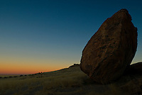 Large Rock with sunrise, Mirabib, Namibia