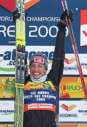 World Champion Justyna Kowalczyk of Poland at Ladies` Pursuit 7,5 km Classic + 7,5 km Free at FIS Nordic World Ski Championships Liberec 2008, on February 21, 2009, in Vestec, Liberec, Czech Republic. (Photo by Vid Ponikvar / Sportida)