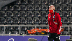 SWANSEA, WALES - Thursday, November 12, 2020: Wales' Jonathan Williams on the pitch before an International Friendly match between Wales and the USA at the Liberty Stadium. (Pic by David Rawcliffe/Propaganda)