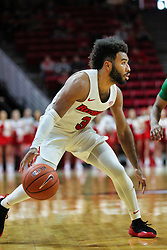 NORMAL, IL - December 16: Keyshawn Evans during a college basketball game between the ISU Redbirds and the Cleveland State Vikings on December 16 2018 at Redbird Arena in Normal, IL. (Photo by Alan Look)