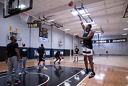 G League Ignite's Michael Foster works on his midrange jumper during a workout with the team on Tuesday, Sept. 28, 2021 in Walnut Creek, Calif.