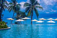 Infinity pool, Melati Beach Resort and Spa, Koh Samui (island), Gulf of Thailand, Thailand