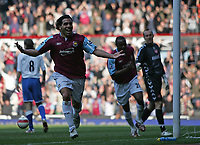 Photo: Lee Earle.<br /> West Ham United v Middlesbrough. The Barclays Premiership. 31/03/2007.United's Carlos Tevez celebrates after scoring their second goal.