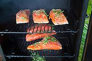 King Salmon in a smoker