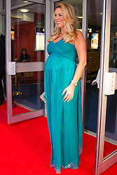 Odeon West End, London, June 16th 2014. A pregnant Claire Sweeney on the red carpet at the Odeon West End in Leicester Square, London, for the Gala Screening of Clint Eastwood's big screen version of the Tony Award winning musical Jersey Boys.