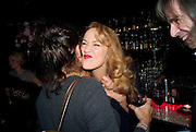 TRACEY EMIN; JERRY HALL, Cloak and Dagger, - Amanda Eliasch - book launch - Entertainment by Miss Polly Rae and her Hurly Burly girls. <br />Soho Revue Bar, 11-12 Walkers Court, London *** Local Caption *** -DO NOT ARCHIVE-© Copyright Photograph by Dafydd Jones. 248 Clapham Rd. London SW9 0PZ. Tel 0207 820 0771. www.dafjones.com.