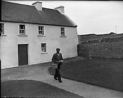 Brendan Behan in Connemara.10/06/1959<br /> Brendan Francis Behan, an Irish playwright, began to write while imprisoned for IRA terrorist activities. His plays The Quare Fellow (1956) and The Hostage (1958) were produced by Joan Littelwood and Behan's colourful memoir Borstal Boy (1958) established him as a leading Irish writer.  He was also an Irish republican and a volunteer in the Irish Republican Army.<br /> However alcoholism later resulted in his premature death.