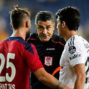 Referee Bulent Yildirim (M) during their Turkish Superleague soccer match Mersin Idman Yurdu between Besiktas at the Mersin stadium in Mersin Turkey on Sunday 16 August 2015. Photo by Aykut AKICI/TURKPIX
