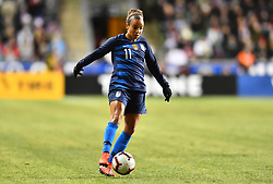 February 27, 2019 - Chester, PA, U.S. - CHESTER, PA - FEBRUARY 27: US Forward Mallory Pugh (11) carries the ball in the first half during the She Believes Cup game between Japan and the United States on February 27, 2019 at Talen Energy Stadium in Chester, PA. (Photo by Kyle Ross/Icon Sportswire) (Credit Image: © Kyle Ross/Icon SMI via ZUMA Press)