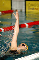 NM svømming senior/05032004/ Grottebadet i Harstad/ Eva M Hasund Kristiansand SA/ 200m rygg damer forsøk<br /> FOTO: KAJA BAARDSEN/DIGITALSPORT