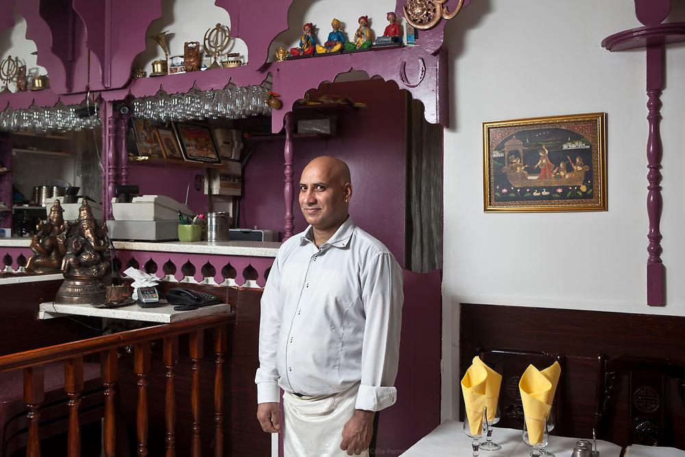Kumar, patron de Navel, restaurant de cuisine traditionnelle indienne