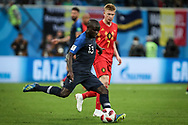 N'Golo Kante of France and Kevin De Bruyne of Belgium during the 2018 FIFA World Cup Russia, Semi Final football match between France and Belgium on July 10, 2018 at Saint Petersburg Stadium in Saint Petersburg, Russia - Photo Thiago Bernardes / FramePhoto / ProSportsImages / DPPI