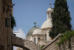 Crosses on churches in the Christian quarter of the Old City of Jerusalem. From a series of travel photos taken in Jerusalem and nearby areas. Photo date: Thursday, August 2, 2018. Photo credit should read: Richard Gray/EMPICS