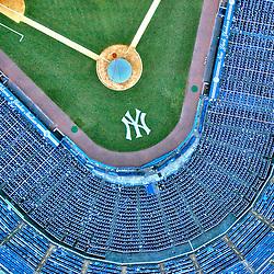 Aerial Photograph of Original Yankee Stadium, Bronx, New York