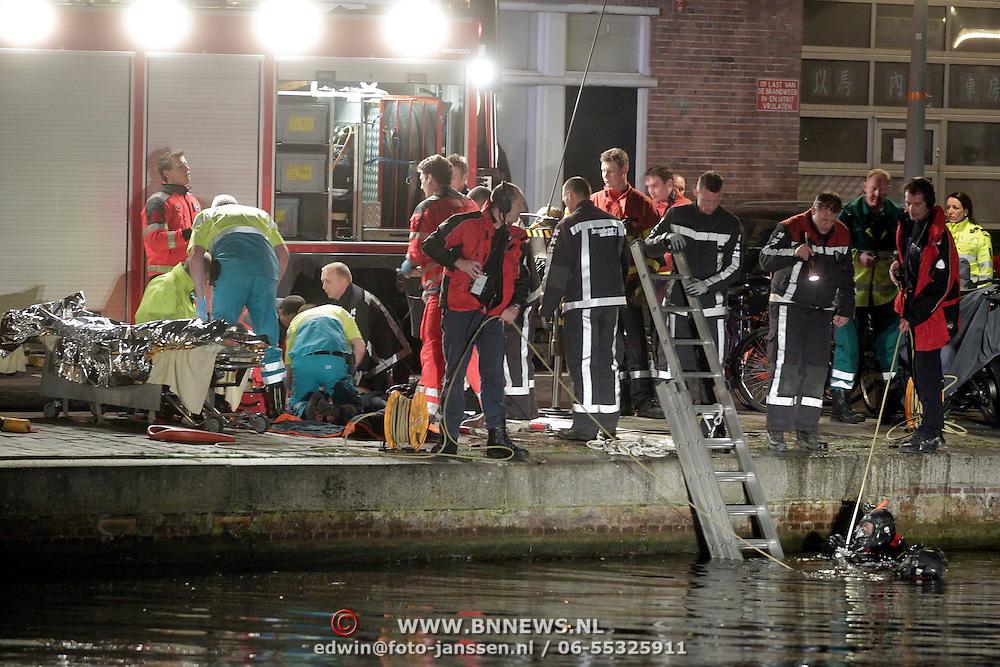 NLD/Amsterdam/20120320 - Persoon te water Baarsjesweg Amsterdam,