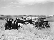 9969-4273. Threshing outfit working on Frank Stark's wheat ranch at Dufur, Oregon. July 24, 1939.