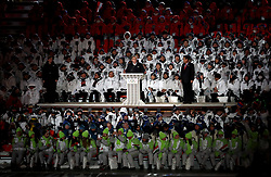 Thomas Bach, IOC President during the Opening Ceremony of the PyeongChang 2018 Winter Olympic Games at the PyeongChang Olympic Stadium in South Korea.