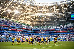 July 7, 2018 - Samara, RUSSIA - 180707 Players of Sweden recognizes the fans after loosing the FIFA World Cup quarter final match between Sweden and England on July 7, 2018 in Samara..Photo: Joel Marklund / BILDBYRÃ…N / kod JM / 87755 (Credit Image: © Joel Marklund/Bildbyran via ZUMA Press)