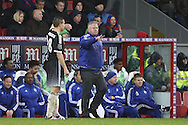 Guus hiddink, the Chelsea manager looks on from the touchline. Barclays Premier League match, Crystal Palace v Chelsea at Selhurst Park in London on Sunday 3rd Jan 2016. pic by John Patrick Fletcher, Andrew Orchard sports photography.