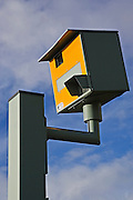 Gatso speed camera on A40, Oxfordshire, England, United Kingdom