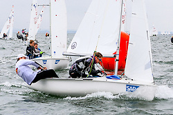 , Travemünde - Travemünder Woche 21. - 30.07.2017, 420er - GER 54645 - Justin VENGER - Sissi WENSEL - Württembergischer Yacht-Club e. Vꖭ
