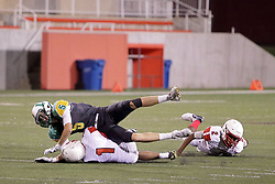 29 September 2017: Jacksonville Crimsons at University High Pioneers. IHSA football, Normal Illinois<br /> <br /> #alphoto513 #IHSA #IHSAFootball