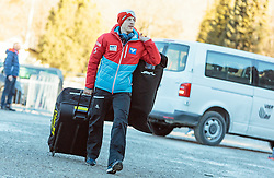 31.12.2016, Olympiaschanze, Garmisch Partenkirchen, GER, FIS Weltcup Ski Sprung, Vierschanzentournee, Garmisch Partenkirchen, TRaining, im Bild Michael Hayboeck (AUT) // Michael Hayboeck of Austria before his Practice Jump for the Four Hills Tournament of FIS Ski Jumping World Cup at the Olympiaschanze in Garmisch Partenkirchen, Germany on 2016/12/31. EXPA Pictures © 2016, PhotoCredit: EXPA/ JFK