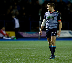 Cardiff Blues' Garyn Smith<br /> <br /> Photographer Simon King/Replay Images<br /> <br /> Guinness PRO14 Round 15 - Cardiff Blues v Munster - Saturday 17th February 2018 - Cardiff Arms Park - Cardiff<br /> <br /> World Copyright © Replay Images . All rights reserved. info@replayimages.co.uk - http://replayimages.co.uk