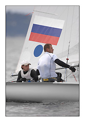 470 Class European Championships Largs - Day 6..RUS2, Mikhail SHEREMETYEV, Maxim SHEREMETYEV, St. Petersburg