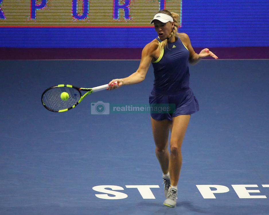 February 2, 2018 - St. Petersburg, Russia - CAROLINE WOZNIACKI against D. Kasatkina during WTA. St. Petersburg Ladies Trophy 2018 at SIBUR arena. (Credit Image: © Russian Look via ZUMA Wire)