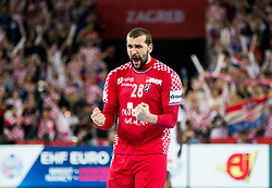 Zeljko Musa of Croatia reacts during handball match between National teams of Croatia and France on Day 7 in Main Round of Men's EHF EURO 2018, on January 24, 2018 in Arena Zagreb, Zagreb, Croatia.  Photo by Vid Ponikvar / Sportida